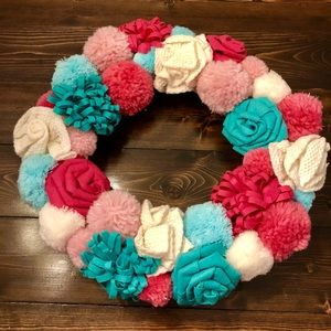 NEW Pom Pom and Felt Wreath